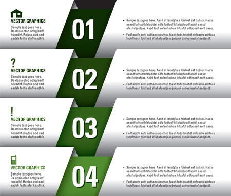 Modern Vector Design Template  Numbered Banners  Graphic or Website Layout  Eps10
