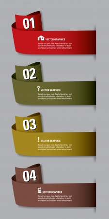 Modern Rolled  Options Banner  Vector illustration  Can be used for workflow layout, diagram, number options, web design   Vector