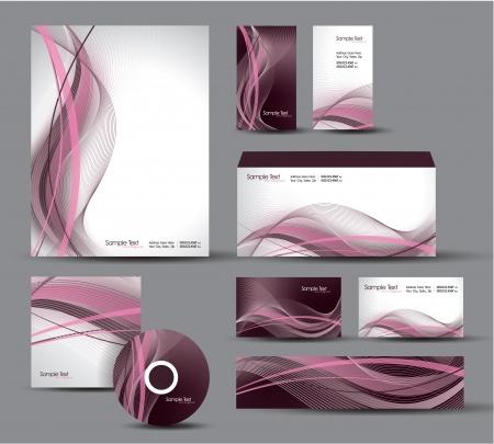 Identidad moderna con membrete del paquete, tarjetas de visita de regalo, sobres, cd dvd, banner Foto de archivo - 18852974