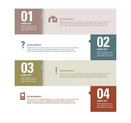 Modern Design Template Genummerde Banners Grafische of website lay-out Stock Illustratie