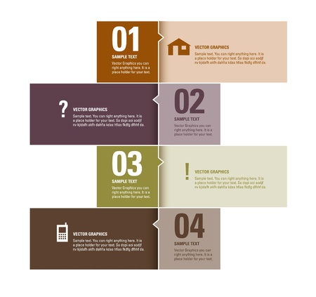 layout: Modern Design Template  Numbered Banners  Graphic or Website Layout