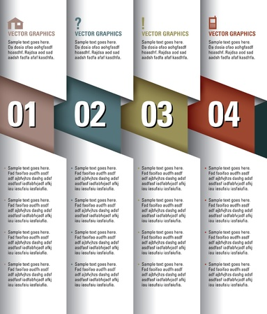 numbers abstract: Modern Design Template  Numbered Banners  Graphic or Website Layout