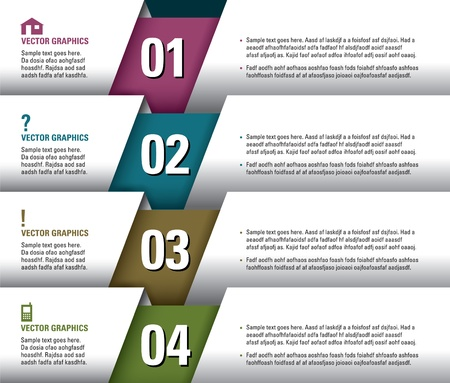 website: Modern Design Template  Numbered Banners  Graphic or Website Layout