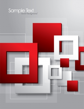 gray: Abstract background with squares  Illustration