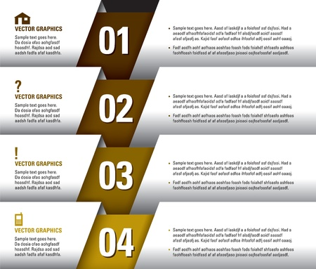 Modern Design Template  Numbered Banners  Graphic or Website Layout