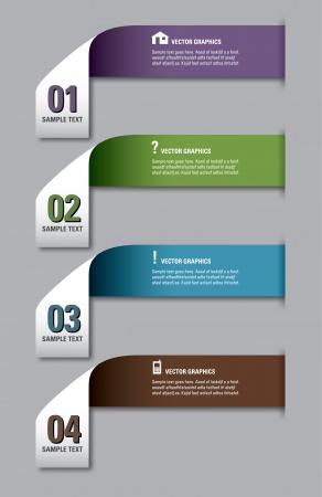 numbered: Design moderno modello numerato Banner layout grafico o sito web