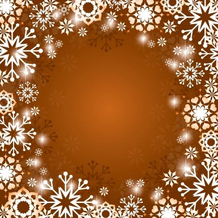 crystallization: Christmas Background  Vector Illustration  Illustration