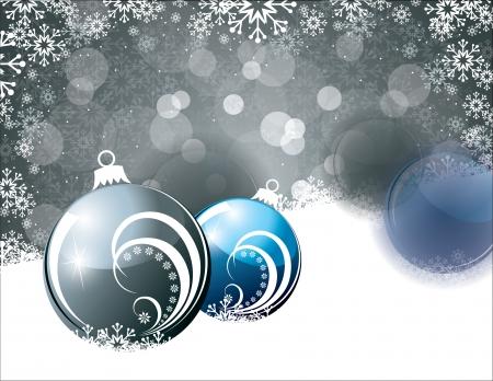snowdrifts: Natale sfondo illustrazione vettoriale