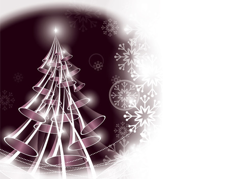 Christmas Tree  Vector Background  Ilustrace