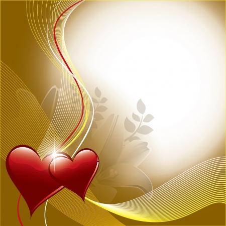 Fond avec des coeurs Valentines Illustration