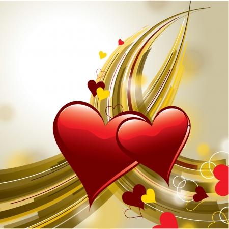 Hintergrund mit Herz Valentinstag Illustration Standard-Bild - 24940593