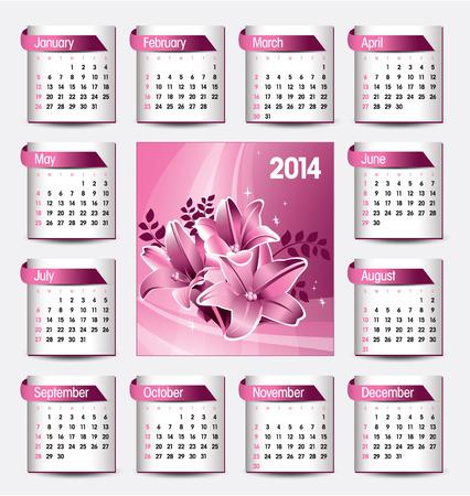 date: 2014 Calendar