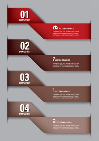 Modern Design Template  Numbered Banners  Graphic or Website Layout   Vector