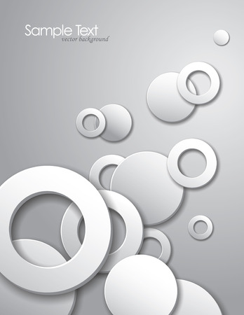 Abstract background with white circles  Vector
