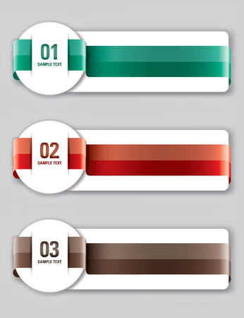Colorful Banners  Vector Design Vector
