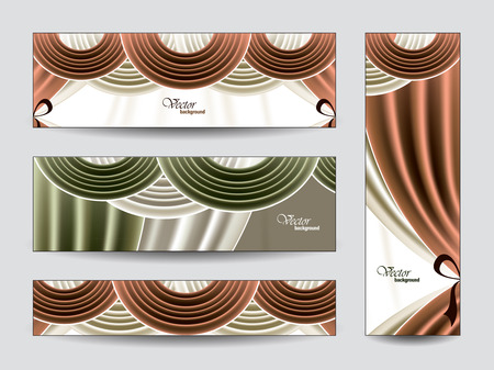 manege: Set of Vector Banners
