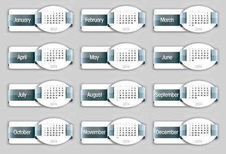 2014 Calendar  Vector Illustration  Vector