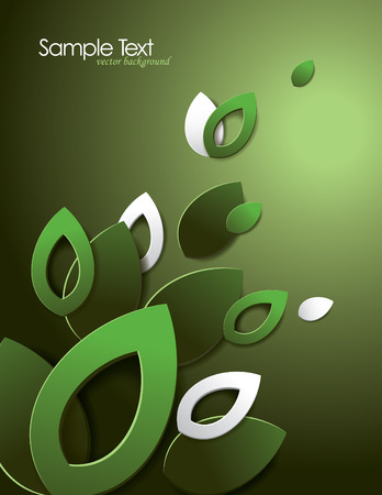 Abstract Vector Background  Leaves  Vector