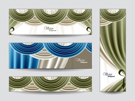Set von Vektor-Banner mit Gardinen Standard-Bild - 26131130