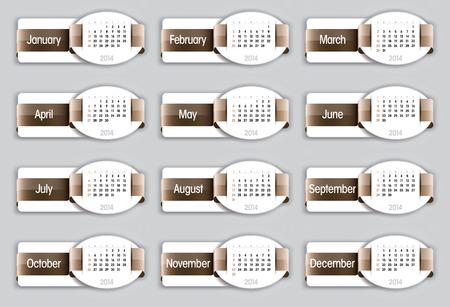 2014 Calendar Banco de Imagens - 26279103