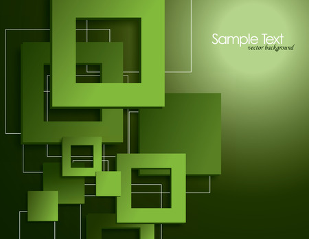 Vector Background with Squares  Vector
