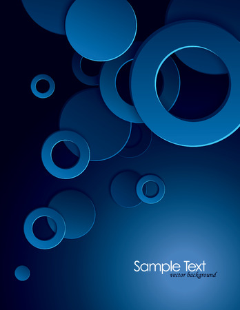 background: Abstract Vector Background with 3D Circles and Rings