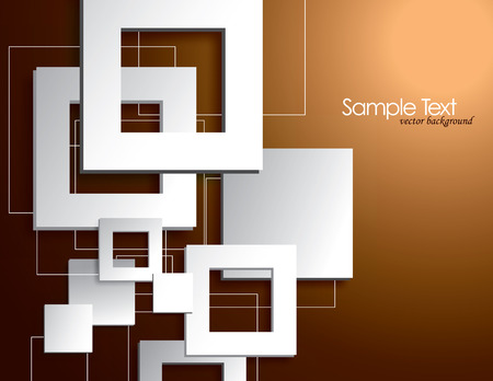 Abstract Vector Background with 3D Squares