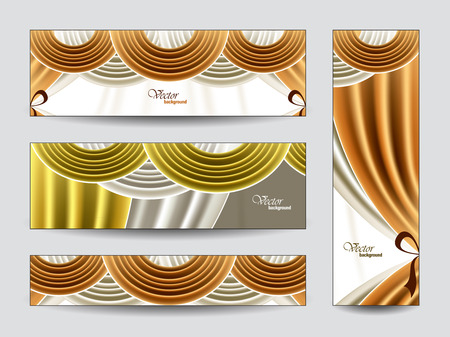 Set of Vector Banners  Abstract Background