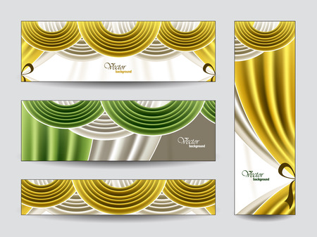 manege: Set of Vector Banners  Abstract Background