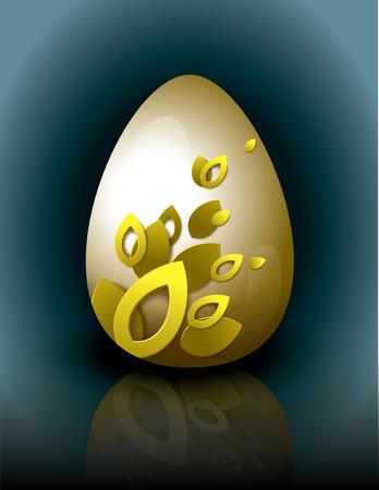 reflection mirror: Easter Egg  Vector Illustration