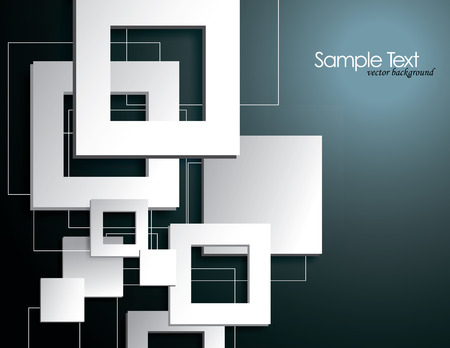 Abstract Background with 3D Squares  Vector