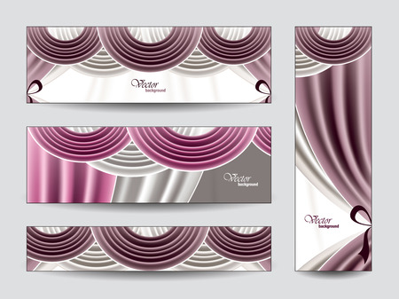 revue: Set of Banners  Illustration