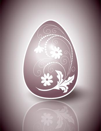 Easter Egg  Abstract Vector Illustration  Ilustração