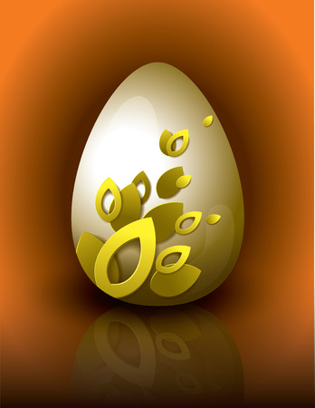 Easter Egg  Abstract Vector Illustration  Vector