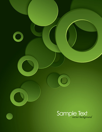 Abstract Vector Background with 3D Circles  Eps10 Format