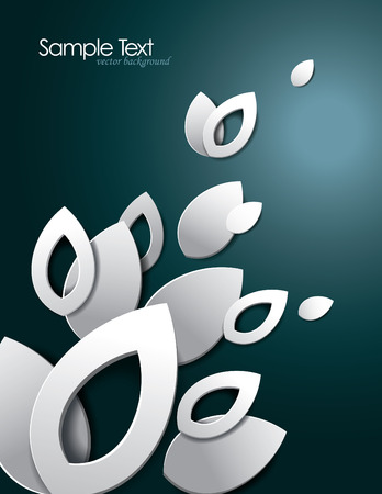 Abstract Vector Background with 3D Leaves  Eps10 Format   Vector