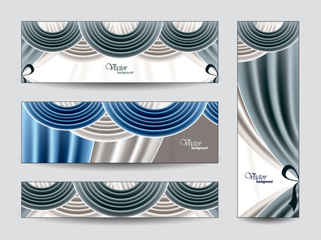 manege: Abstract Vector Banners  Eps10