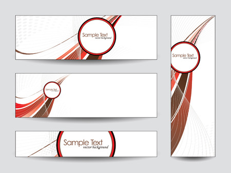shere: Set of Banners  Illustration
