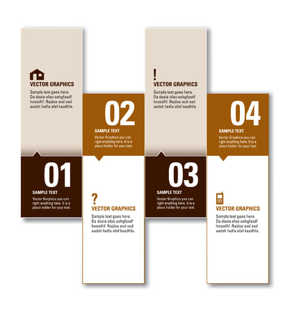 Modern Numbered Banners  Graphic or Website Layout   Vector