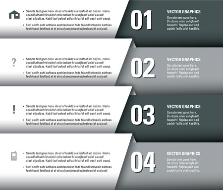 Numbered Banners  Modern Graphic or Website Layout