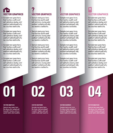 Numbered Banners  Modern Graphic or Website Layout   Vector