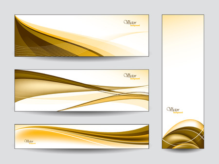 diagonal lines: Collection of Vector Banners  Illustration