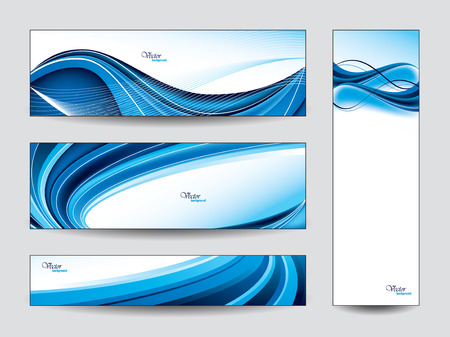 swirl: Collection of Vector Banners  Illustration