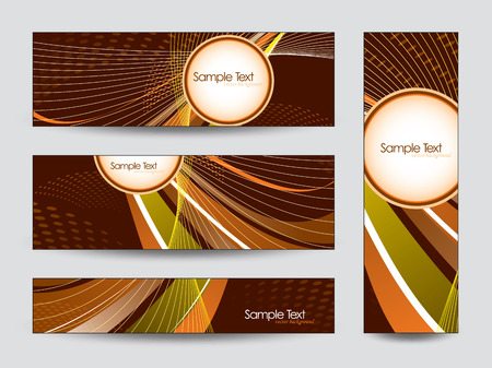 shere: Collection of Vector Banners  Illustration