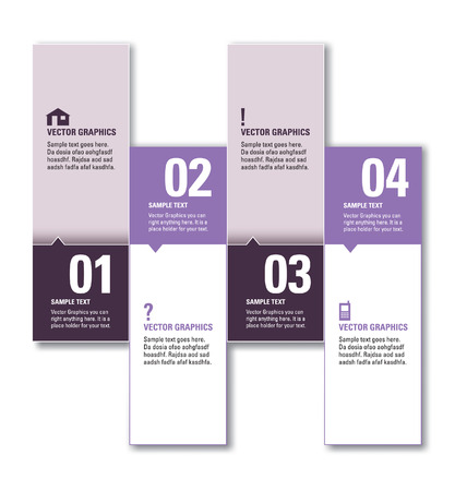 Numbered Banners  Vector Layout  Vector