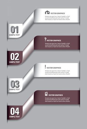 Numbered Banners  Vector Layout