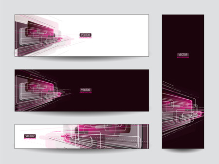 Set of Abstract Vector Banners  Vector