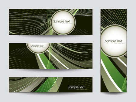 shere: Set of Abstract Vector Banners