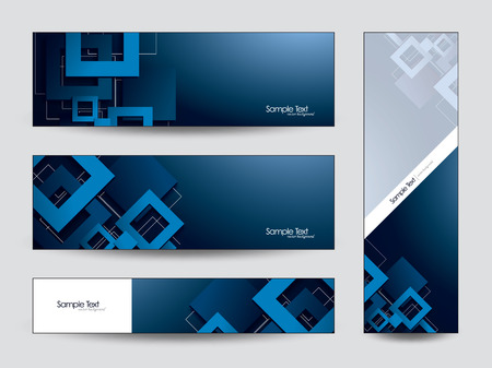 3d Banners with Squares  Vector Illustration  Vector