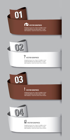 Infographics Numbered Banners  Vector Modern Illustration   Vector
